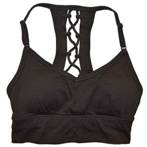SO Lace Up Back Removable Pad Bralette